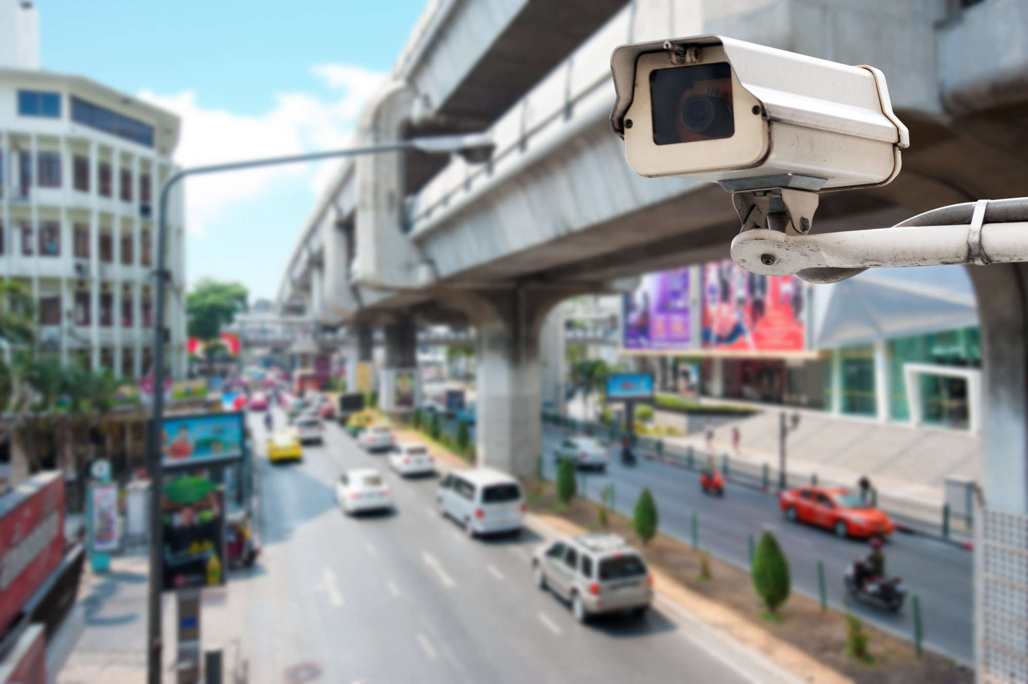 CCTV Operating on Traffic Road