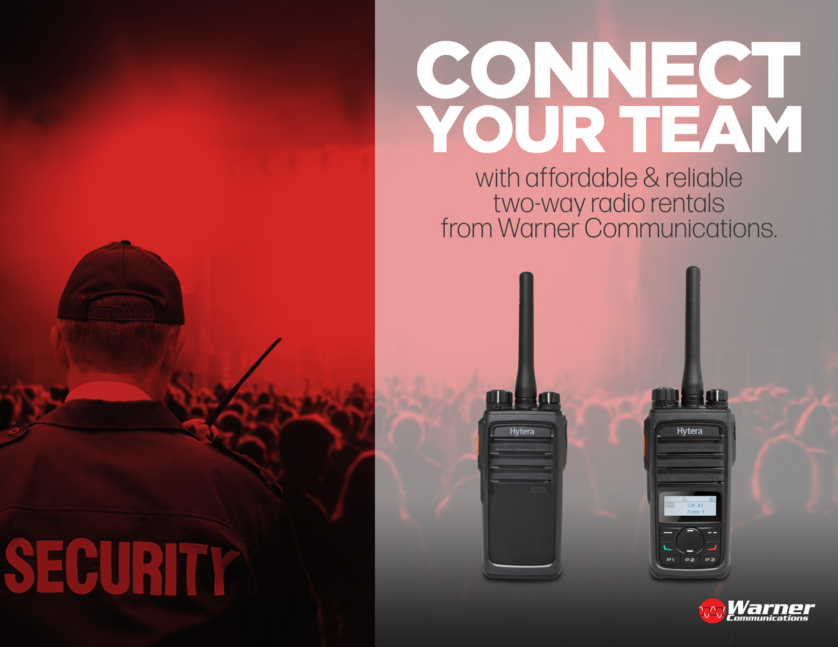 Connect your team with affordable and reliable two-way radio rentals from Warner Communications.